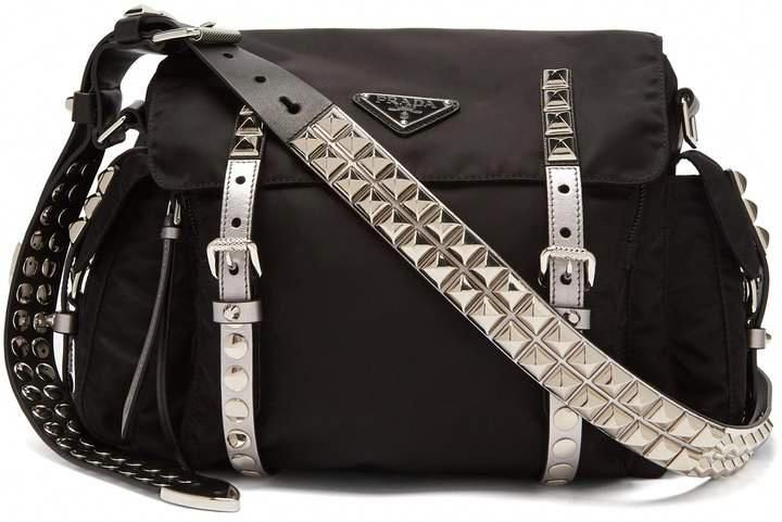 PRADA New Vela leather trimmed cross-body bag  bags  handbags  shoulderbag   bolsa  fashion  prada  style  affiliate  shopstyle  womensfashion   Pradahandbags 3ccec2c402935