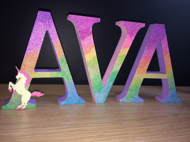 Pin By Deanna O Grady On Rainbow Glitter Unicorn Letters
