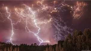 """""""Apocalipse"""", no Parque Nacional Puyehue, no sul do Chile."""