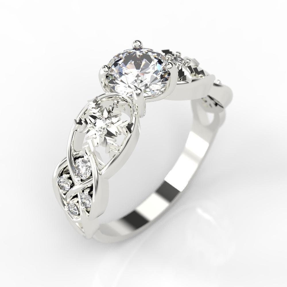 1 0 Carat Moissanite Diamond Engagement Ring14k White Gold Ring 0 16 Ctw Moissanite Engagement Ring White Gold Rings Moissanite Engagement