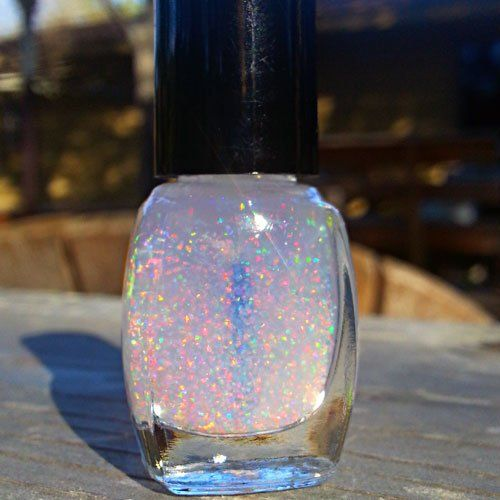 White Crushed Opal Nail Polish 15ml Nail Colors Manis And