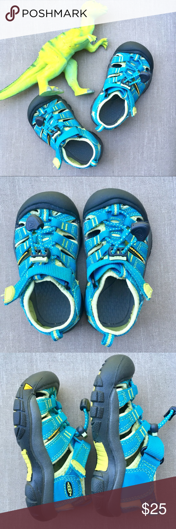 8bd56488fff6 Keen Newport H2 Sandals 8 Toddler Keen Newport H2 Sandals Waterproof Gently  used Blue and neon