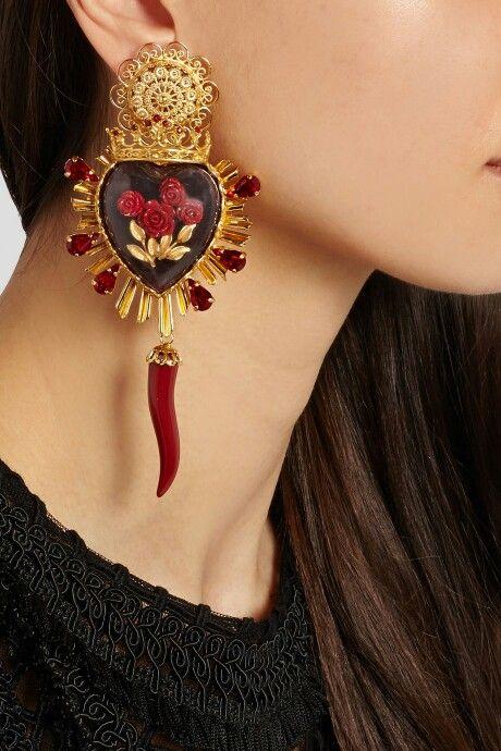 3d353613e79503 Dolce and gabbana _ sacred heart earrings … | Fashion in 2019…