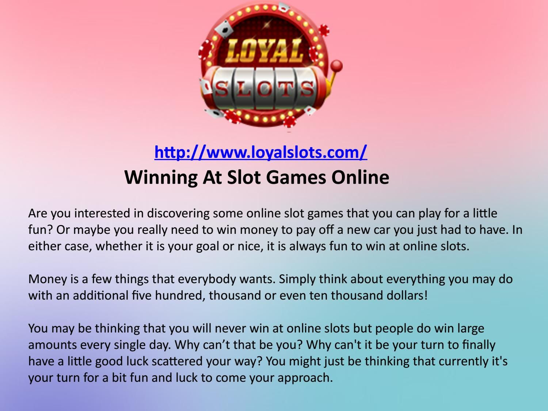 Winning at slot games online Online games, Games, Win money