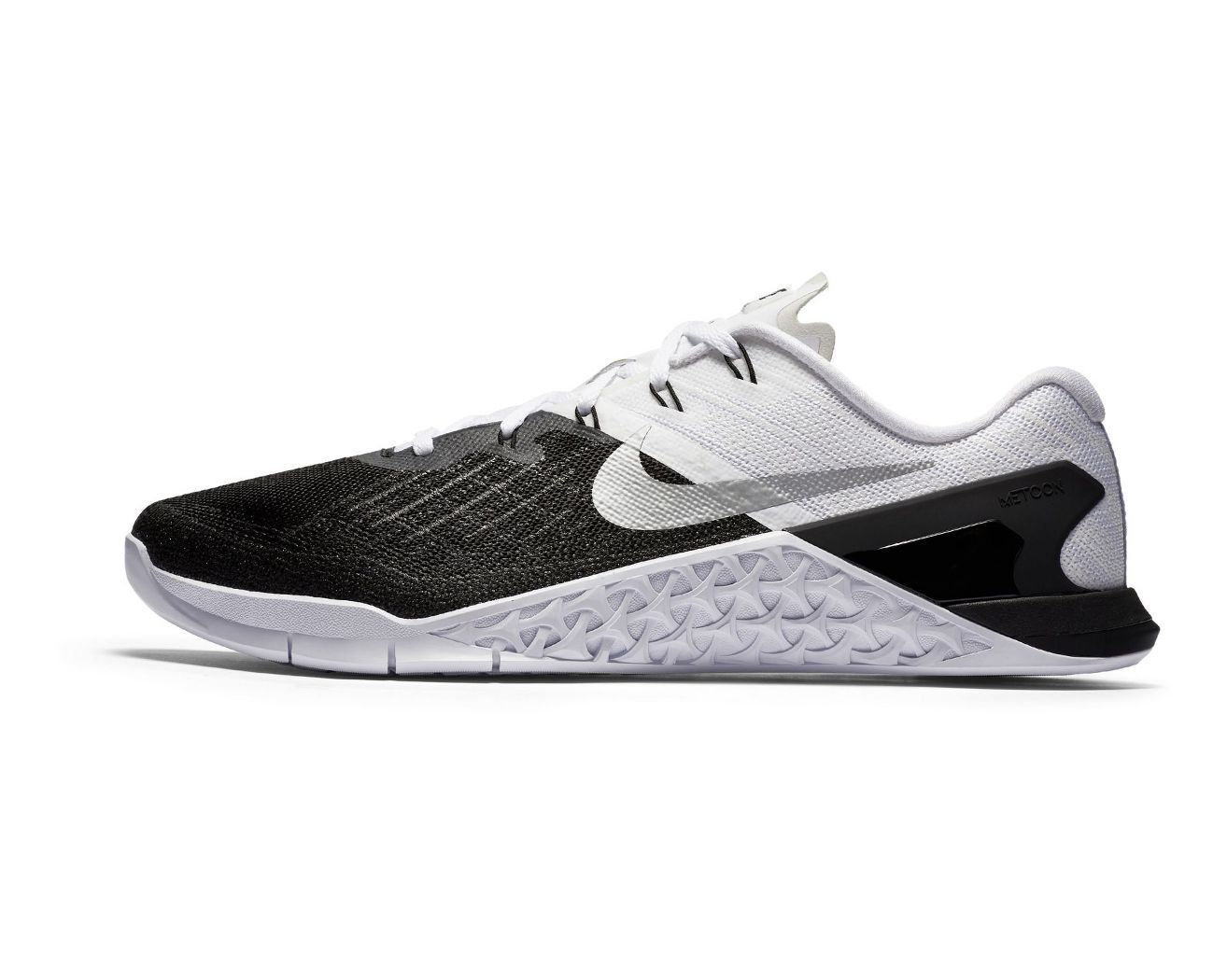 Men's Nike Metcon 3 Blk Wht crossfit open games training lifter olympic  lifting