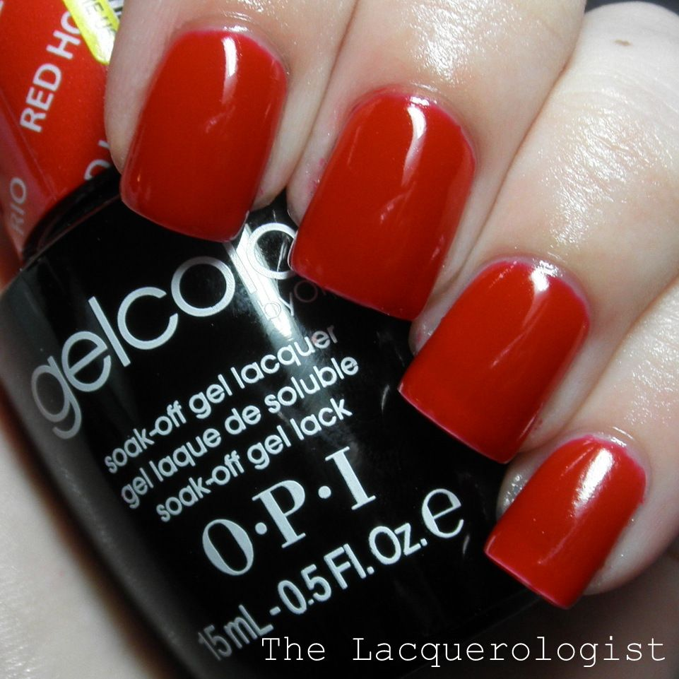 The Lacquerologist: OPI GelColor Red Hot Rio | Gel Nail Obsession ...