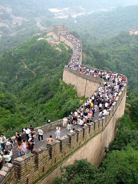 Great Wall of China is awesome, did walk part way. It was exhausting because it is so steep. Completed!