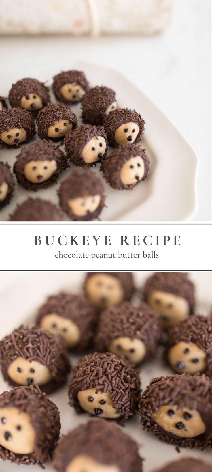 Buckeye Recipe | Chocolate Peanut Butter Balls #peanutbutterballs