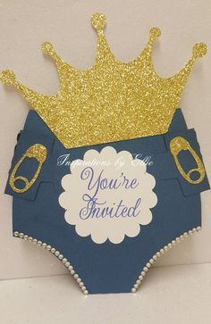 Royal Prince Diaper Invitation Set Of   Mallia