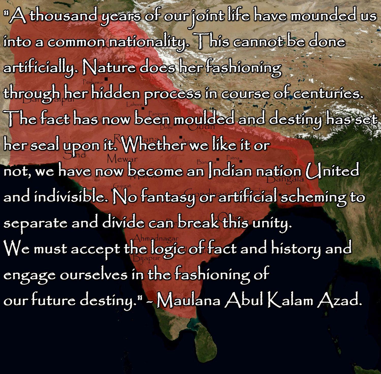 Maulana Abul Kalam Azad quotes, PakistanIndia peace