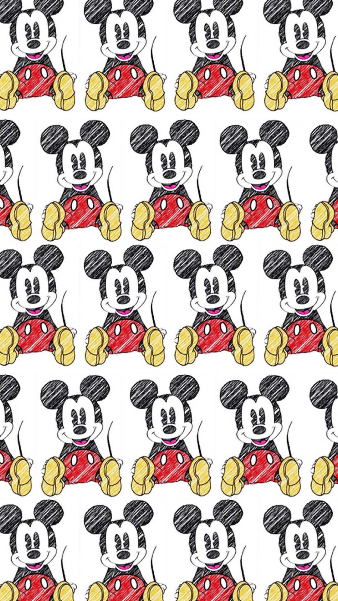 Iphone Backgrounds Wallpapers Cellphone Wallpaper Mickey Mouse Pattern Mikey Minnie Background Images Papo