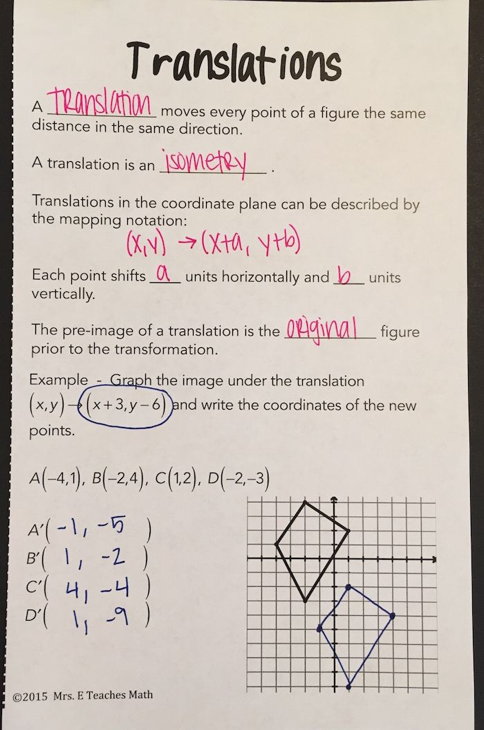Geometric Transformations And Translations Interactive