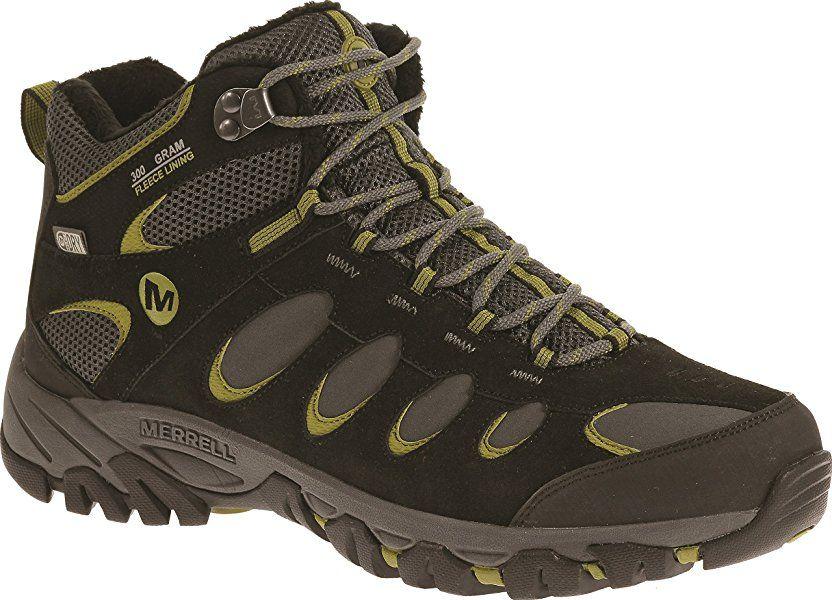 39b5c0ac Merrell Men Ridgepass Thermo Mid Waterproof High Rise Hiking Boots ...