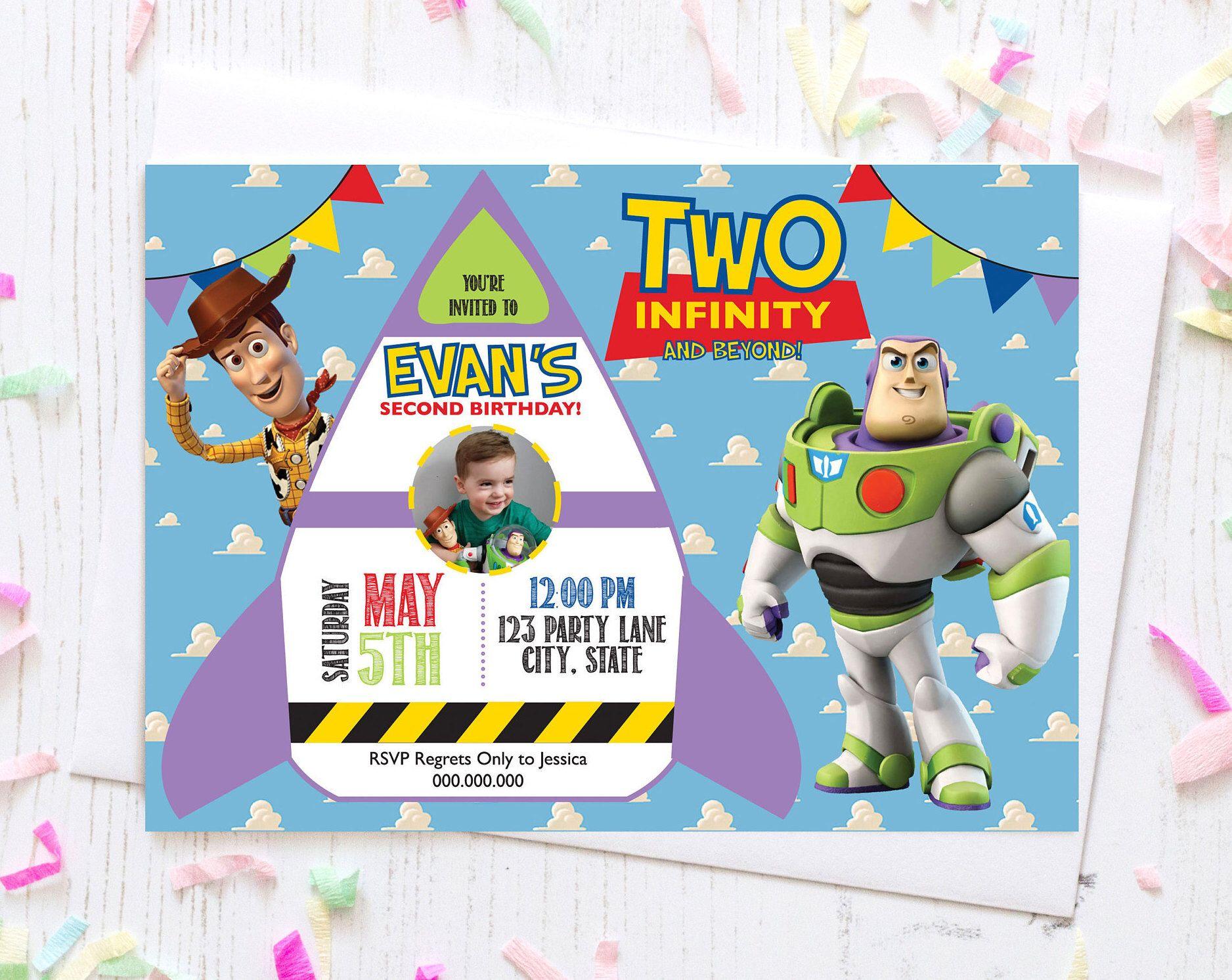toy story second birthday invitation