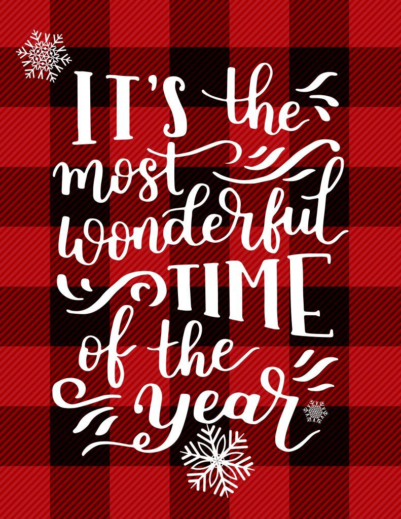 Its the Most Wonderful Time of the Year A Free Printable