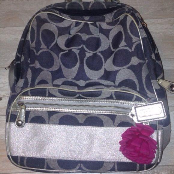 1cc4c8ca24 🚫SOLD COACH F77171 Signature Womens Backpack Bag