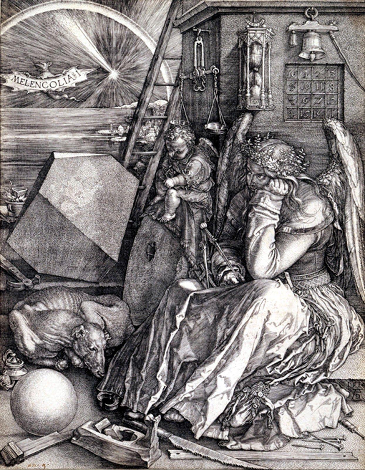Alberto Durero, Melancolía I, grabado (1514) | Paintings & Art ...