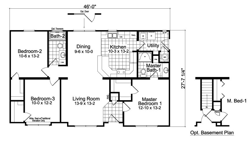 3 Bedroom Home Plans Designs Three Bedroom Two Bath House Plans Trend 12 Home  Select Homes