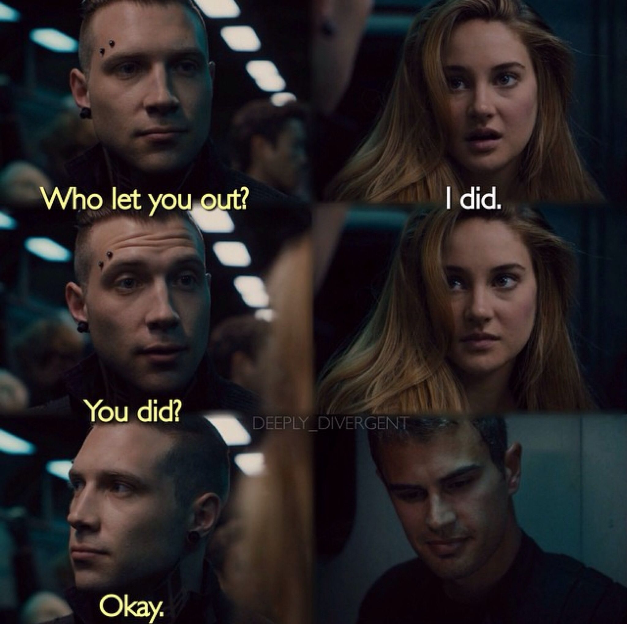 I Liked This Part Except That's Not How The Book Went I Feel Like This ·  Divergent Movie Sceneseric