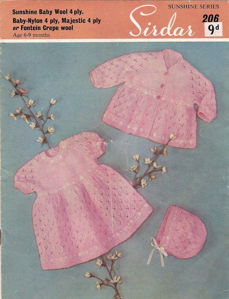 0e408f749c14 Sirdar 1950 s Pram Set Free Vintage Baby Knitting Pattern