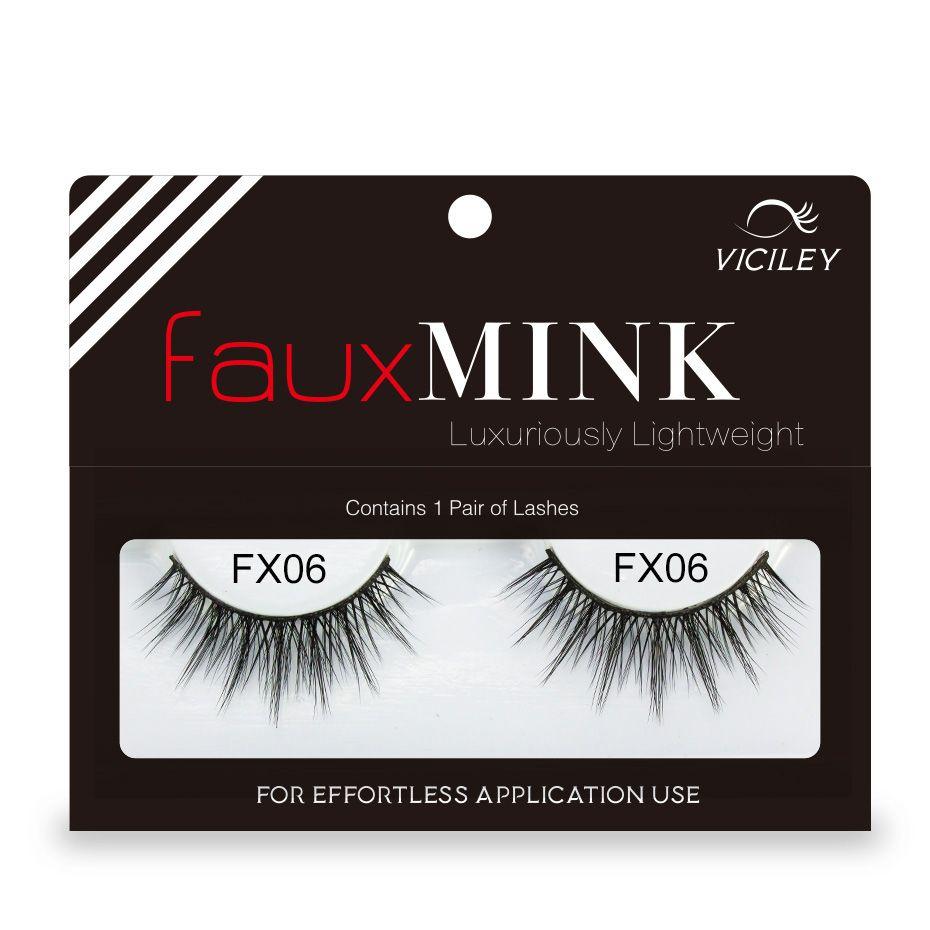 Genailish False Eyelashes Faux Mink Eyelashes Fake 3d Mink Lashes