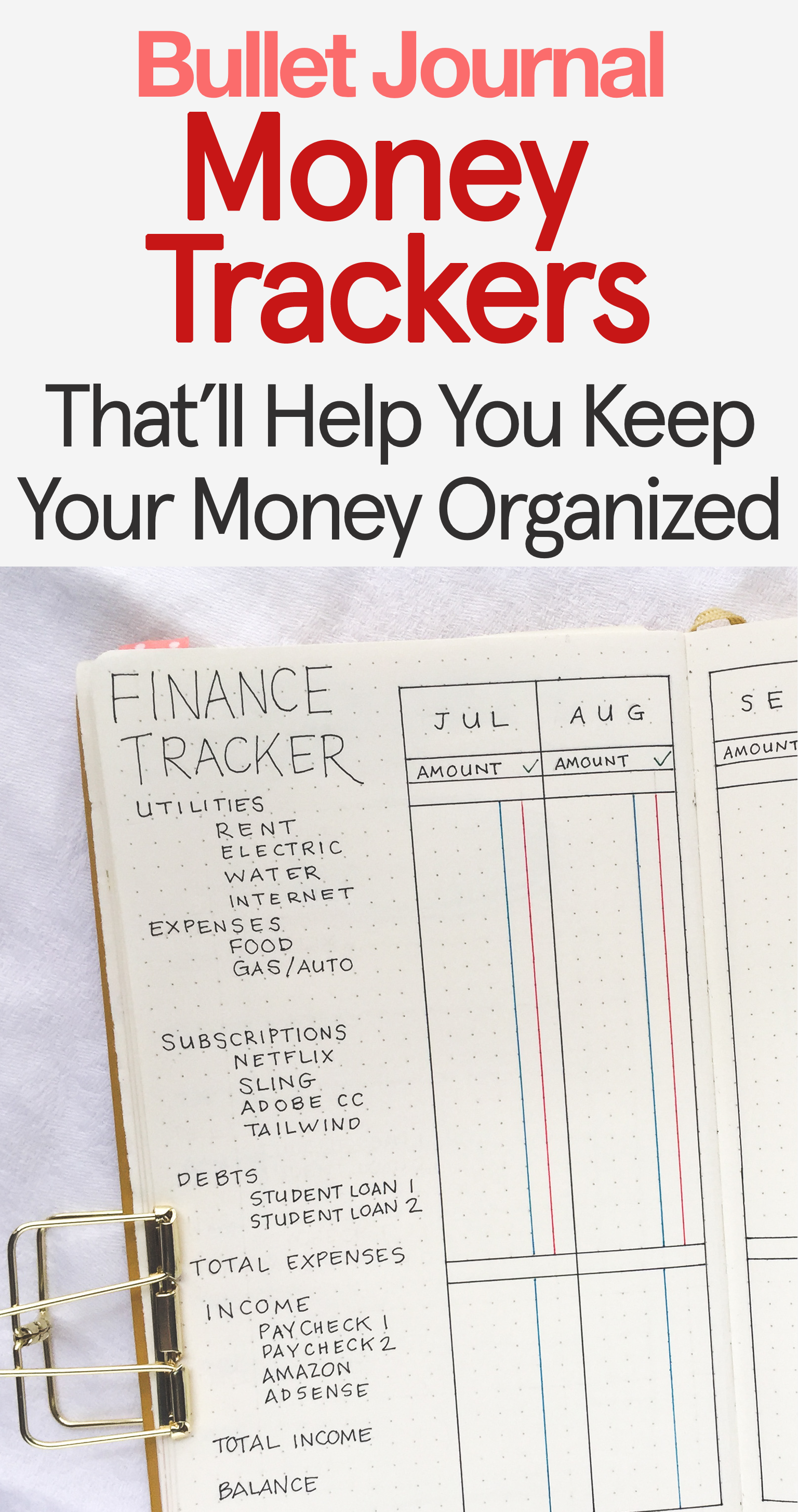 Bullet Journal Budget Amp Money Tracker Ideas To Get Your
