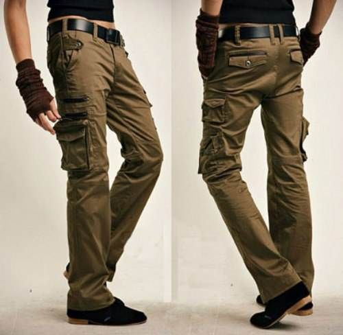 womens brown cargo pants - Pi Pants