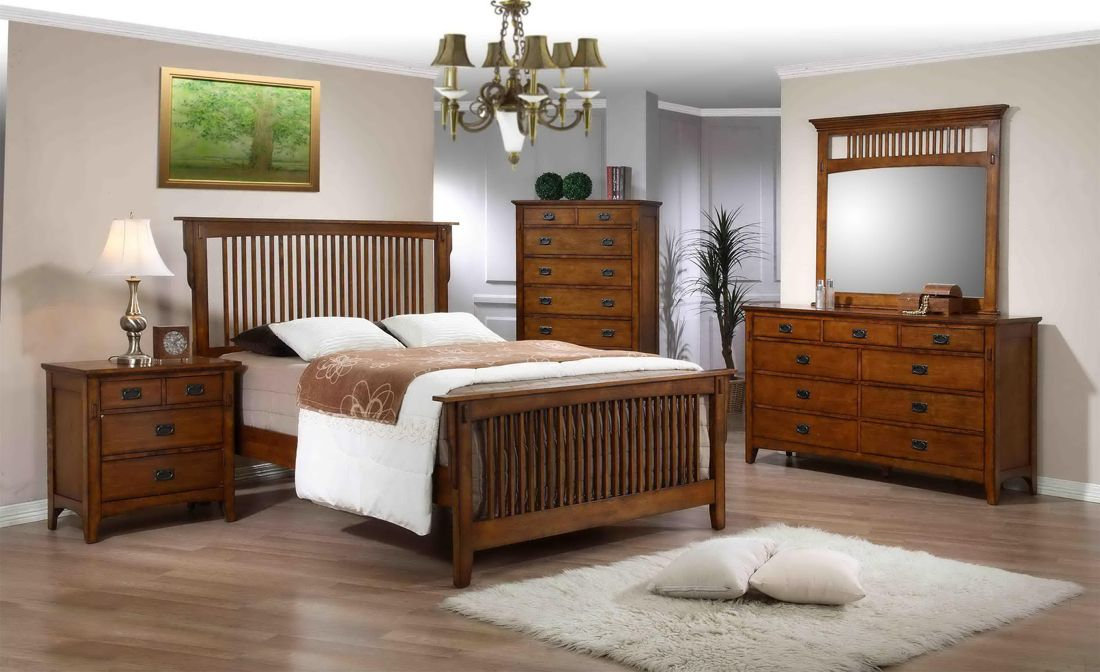 Trudy Mission Bedroom Set Furniture Bedroom Night Stands