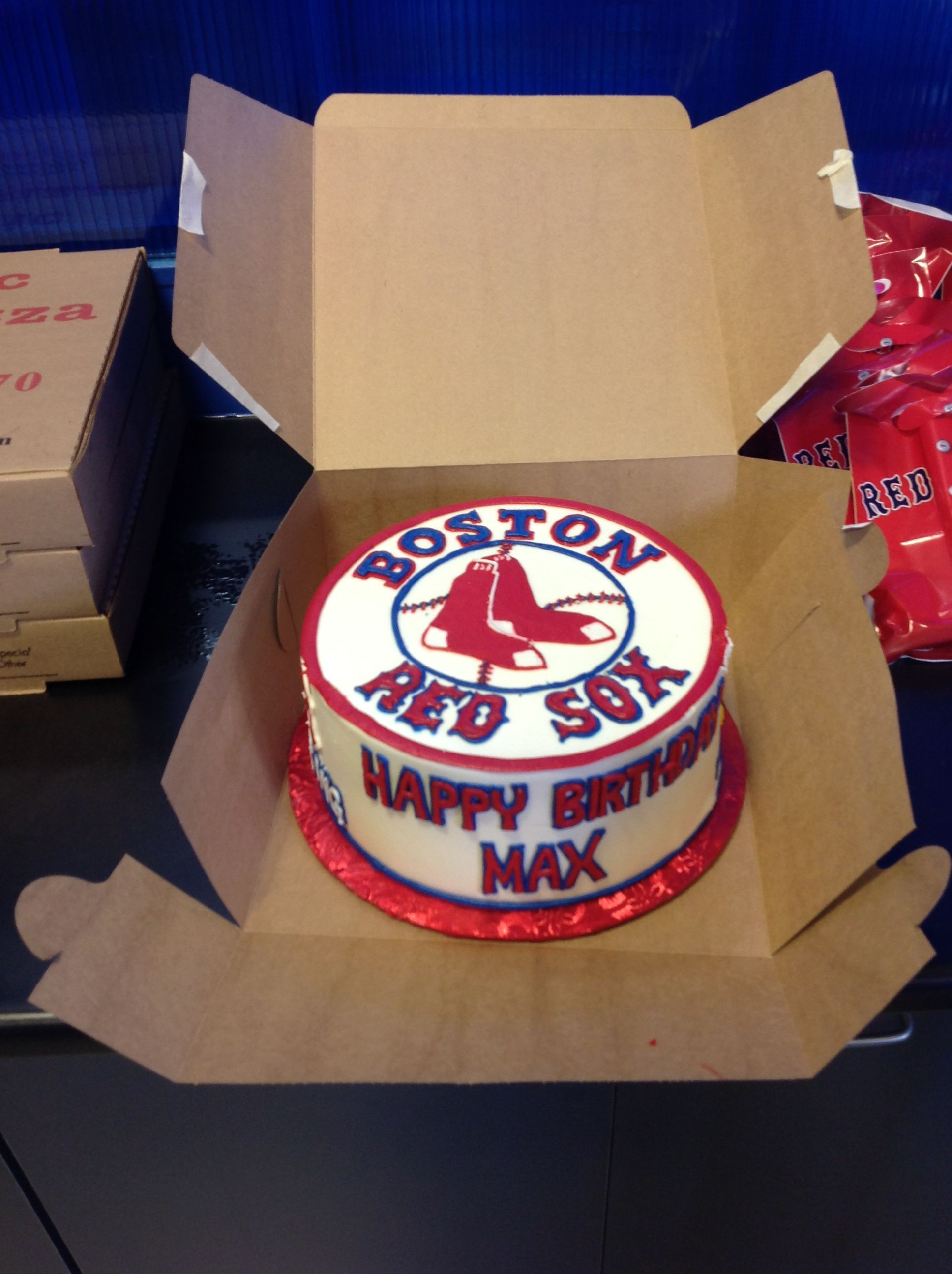 Red Sox Cake At Sky Zone Boston Red Sox Cake Boston Red Sox