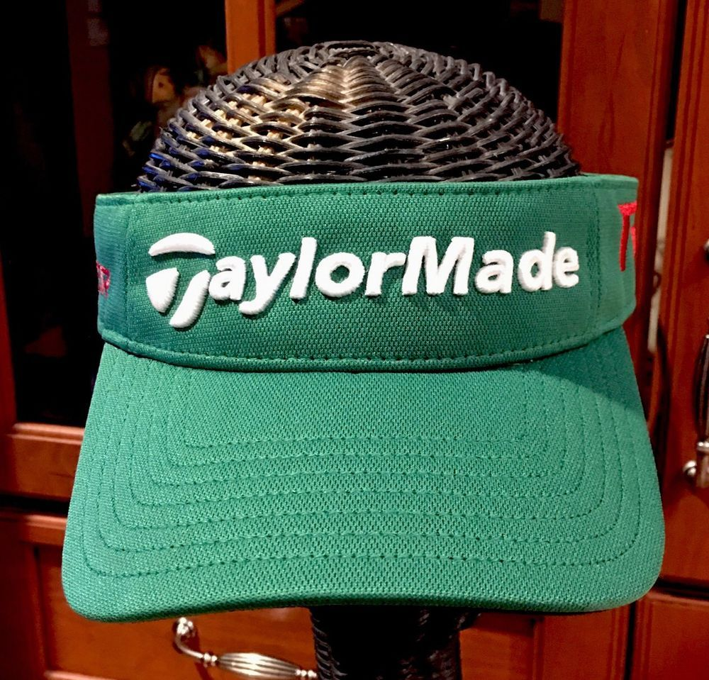 afc02796f Taylor Made Golf Visor Cap Green Aeroburner R15 Hat Men s