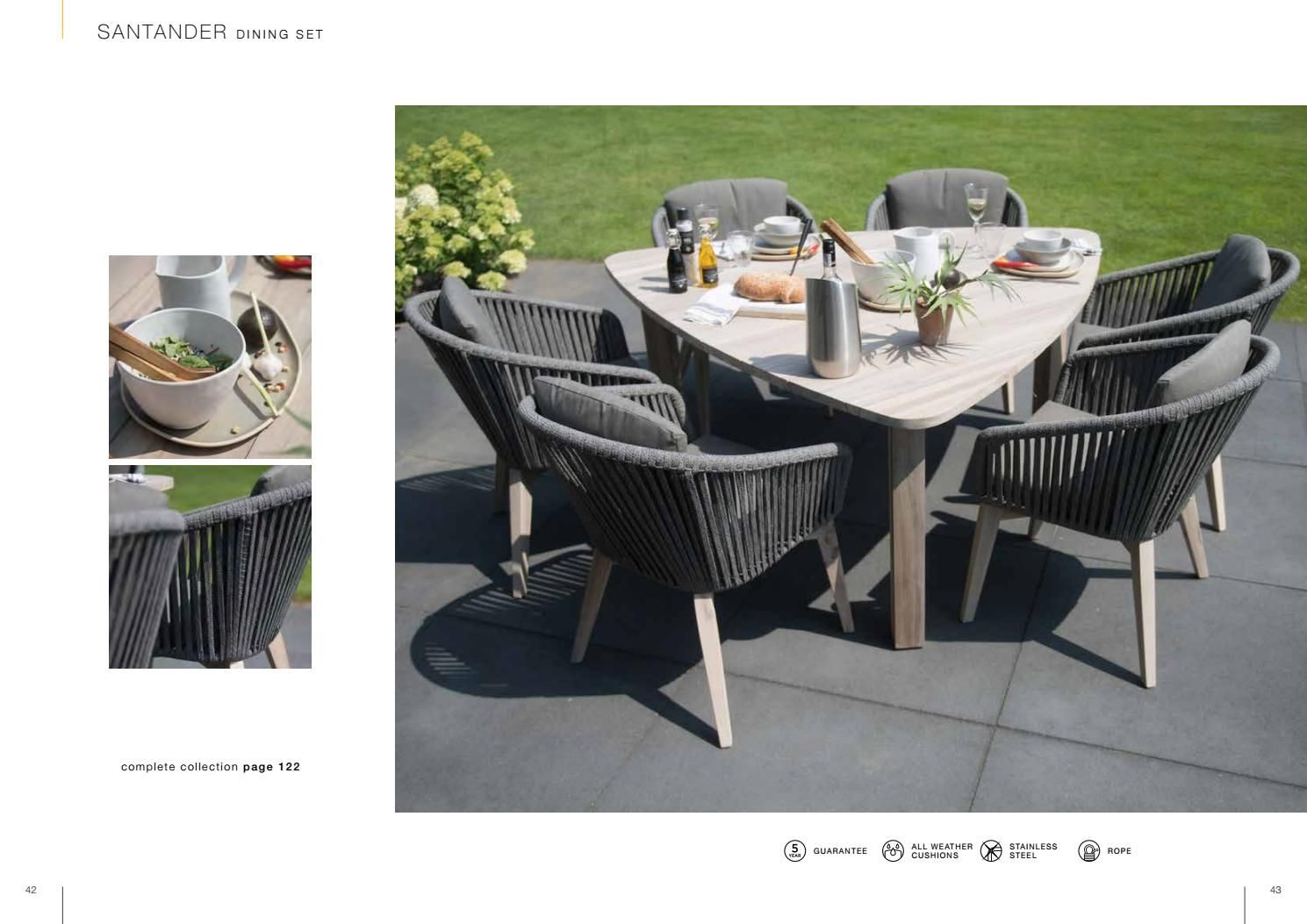 9 SEASONS OUTDOOR   COLLECTION 9   Modern outdoor dining ...