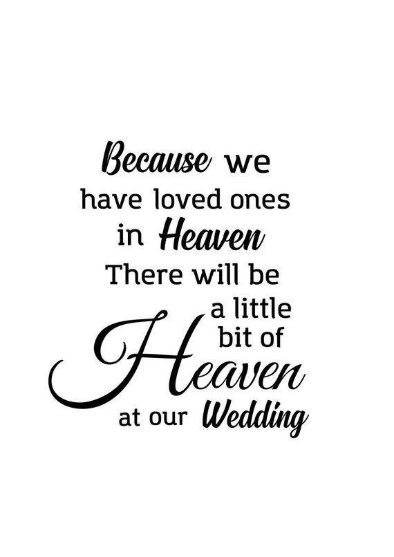 Download Wedding memorial svg; Because we have loved ones in Heaven ...