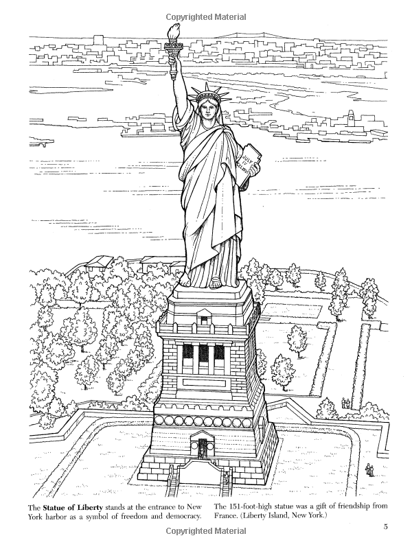 Historic American Landmarks (Dover History Coloring Book): A. G. ...