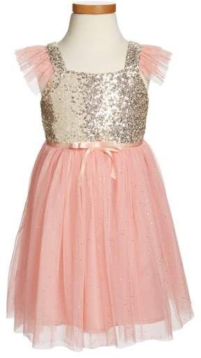 95211b486 Popatu Sequin Bodice Tulle Dress   Girls Fashion   Toddler Dress ...