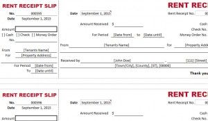 rent receipt slip template for billing small business tools