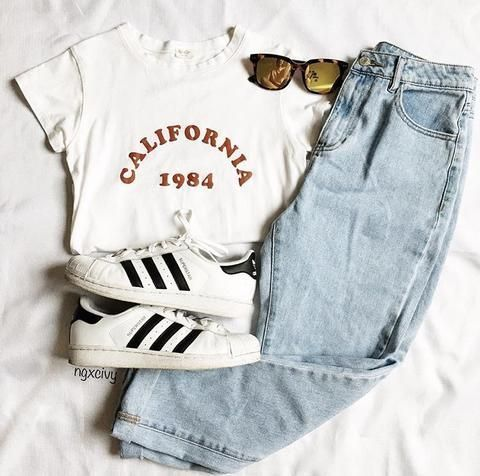 Kalifornien 1984 Tee - Die Besten Outfit-Ideen