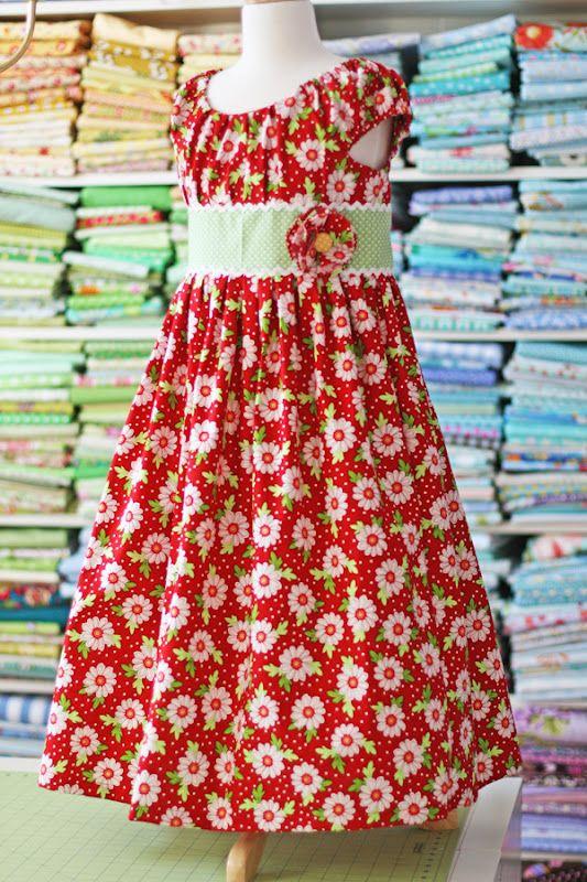 Olivia's Dress Pattern for Girls by Olabelhe