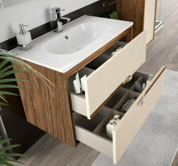 waschbecken mit unterschrank badezimmer schubladen deko bad. Black Bedroom Furniture Sets. Home Design Ideas