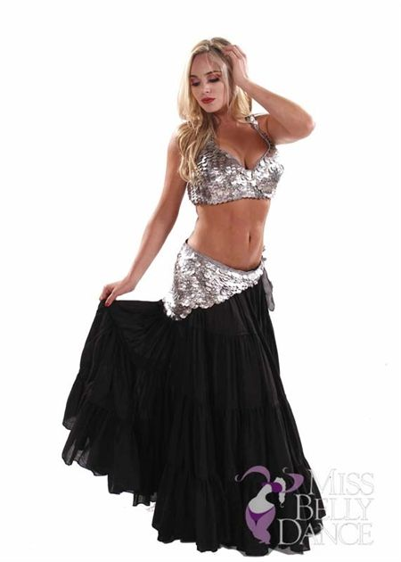 e31e833f373 Belly dance set silver and black. Plus size