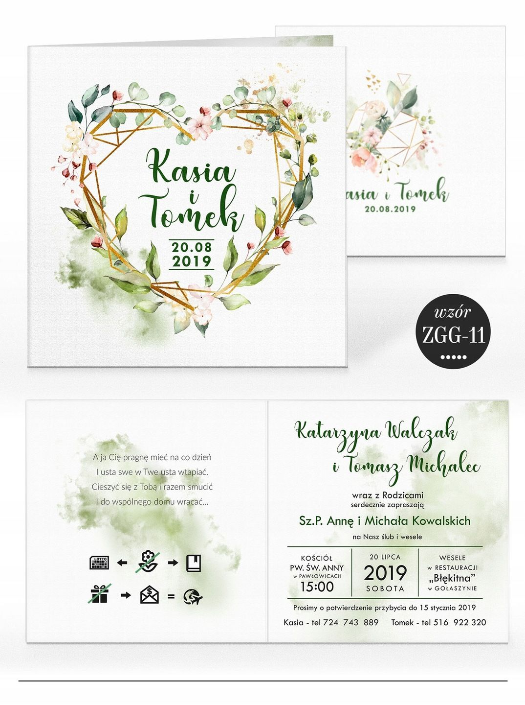 Zaproszenia ślubne Rustykalne Kwiaty Koperta Wesele Pinterest