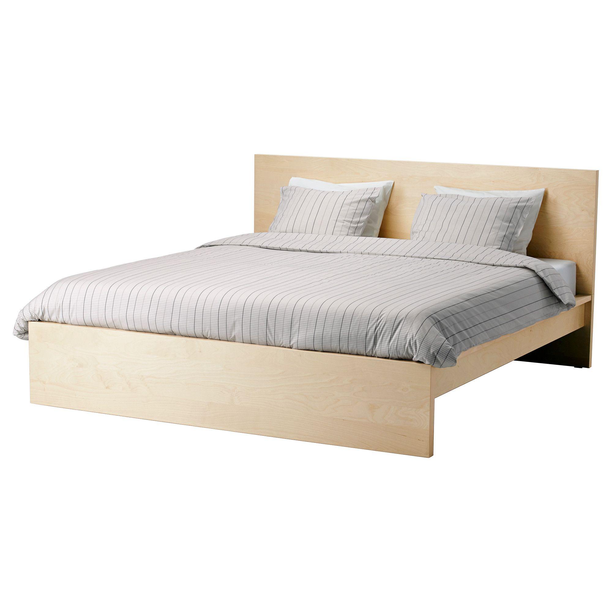 MALM Bed frame, high - Full, w/ Lury slatted bed base - IKEA