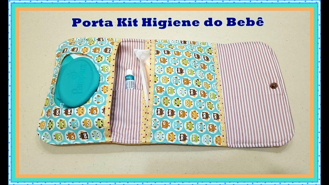 Passoà Passo Porta Kit Higiene do Beb u00ea de Tecido Necessaires Pinterest Kit higiene