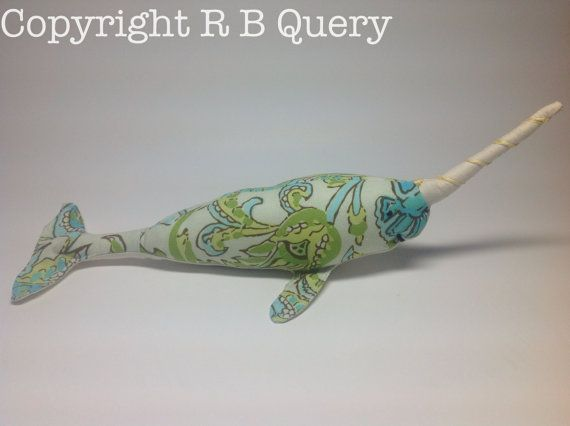 Spike the Narwhal unicorn Arctic whale of the sea cute by RBQuery, $25.95