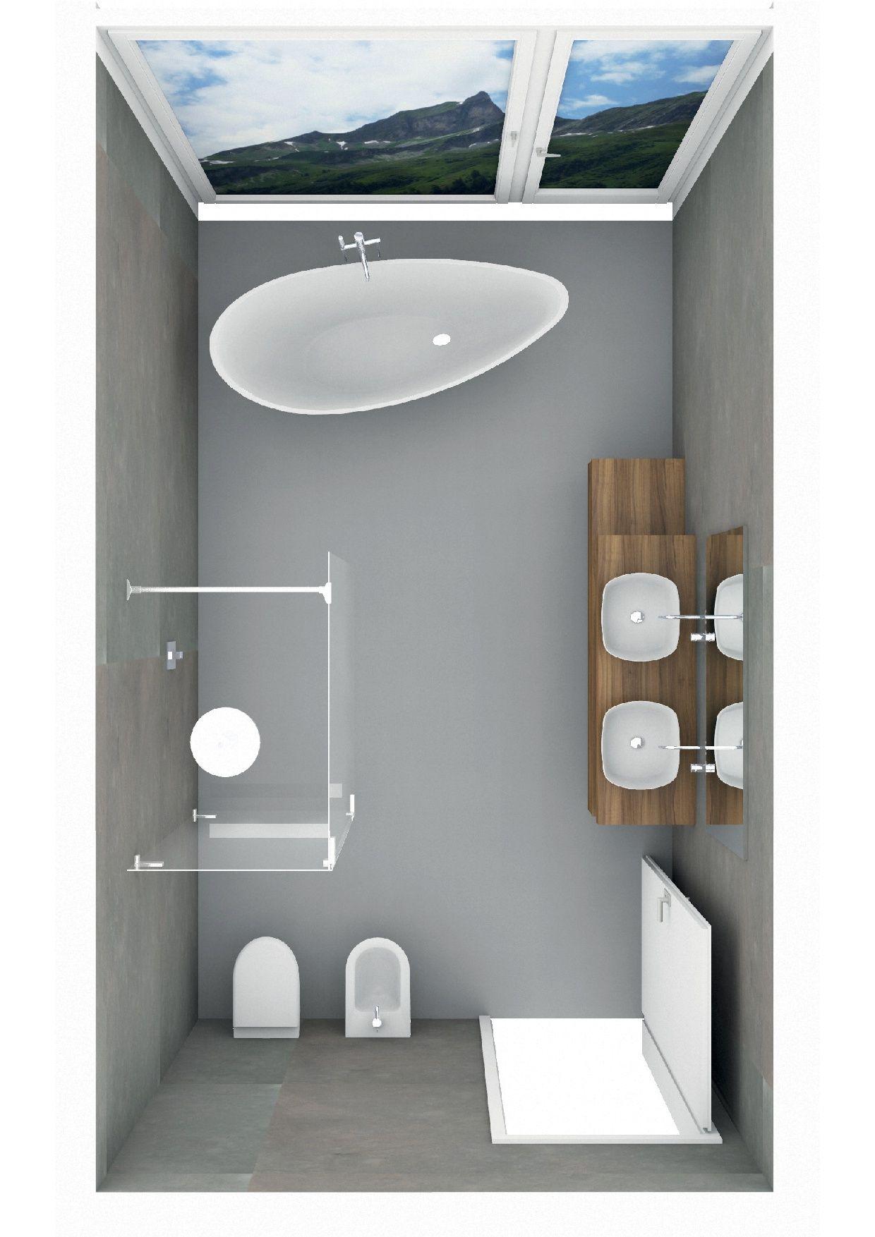 Badplanung Badezimmer Mit Freistehender Badewanne Salle De Bain Sdb Bains