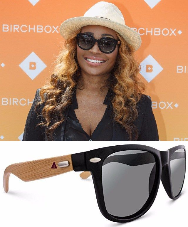 e22f94f08a Wayfarer Retro Square Wood Sunglasses Cynthia Bailey