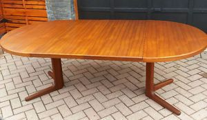 Mid Century Round Dining Room Table With Butterfly Leaves Mcm