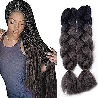 Jiameisi Two Tone Ombre Jumbo Braid Hair Extension 5pcs Lot 100g Pc Kanekalon Fiber For Twist B Braid In Hair Extensions Braided Hairstyles Crochet Hair Styles