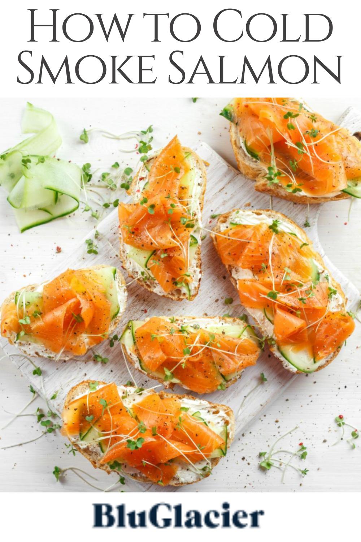How To Cold Smoke Salmon Bluglacier Salmon In 2020 Cooking Salmon Smoked Salmon Mini Appetizers