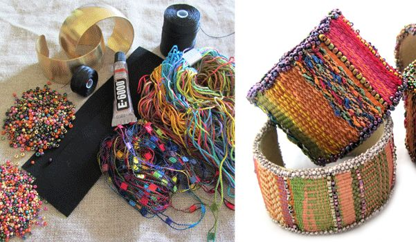As seen in Beadwork Magazine, Beads, Baubles & Jewels & on Craftsy Whether you love weaving beaded jewelry but you've never combined it with fiber, you love weaving tapestry and have never...
