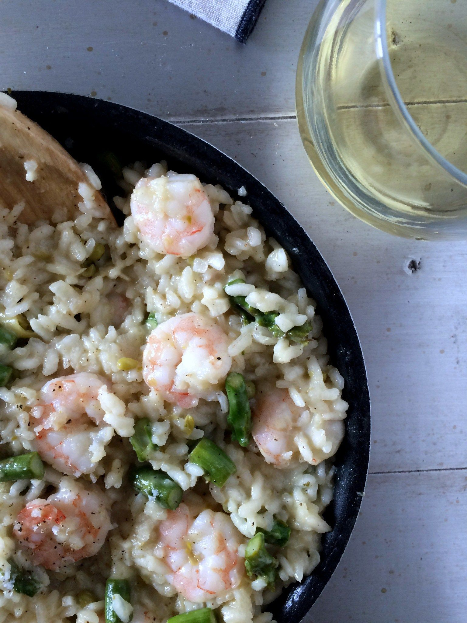 Risotto with Shrimp, Asparagus and Artichoke Hearts